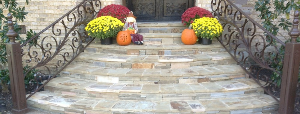 Stone Staircase and Entry Way