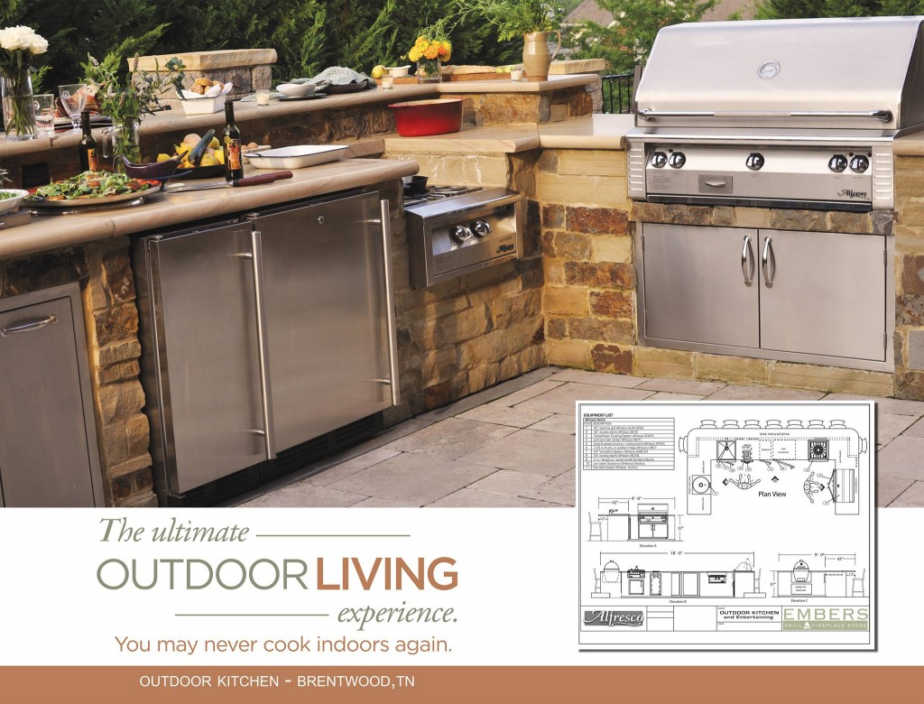 outdoor kitchen appliances packages outside outdoor kitchen by harpeth valley hardscapes kitchens brentwood