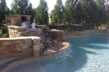 hardscaped Pool