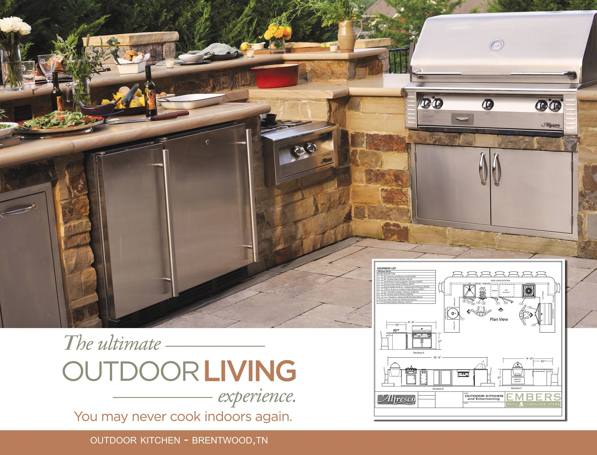 Outdoor Kitchen by Harpeth Valley Hardscapes