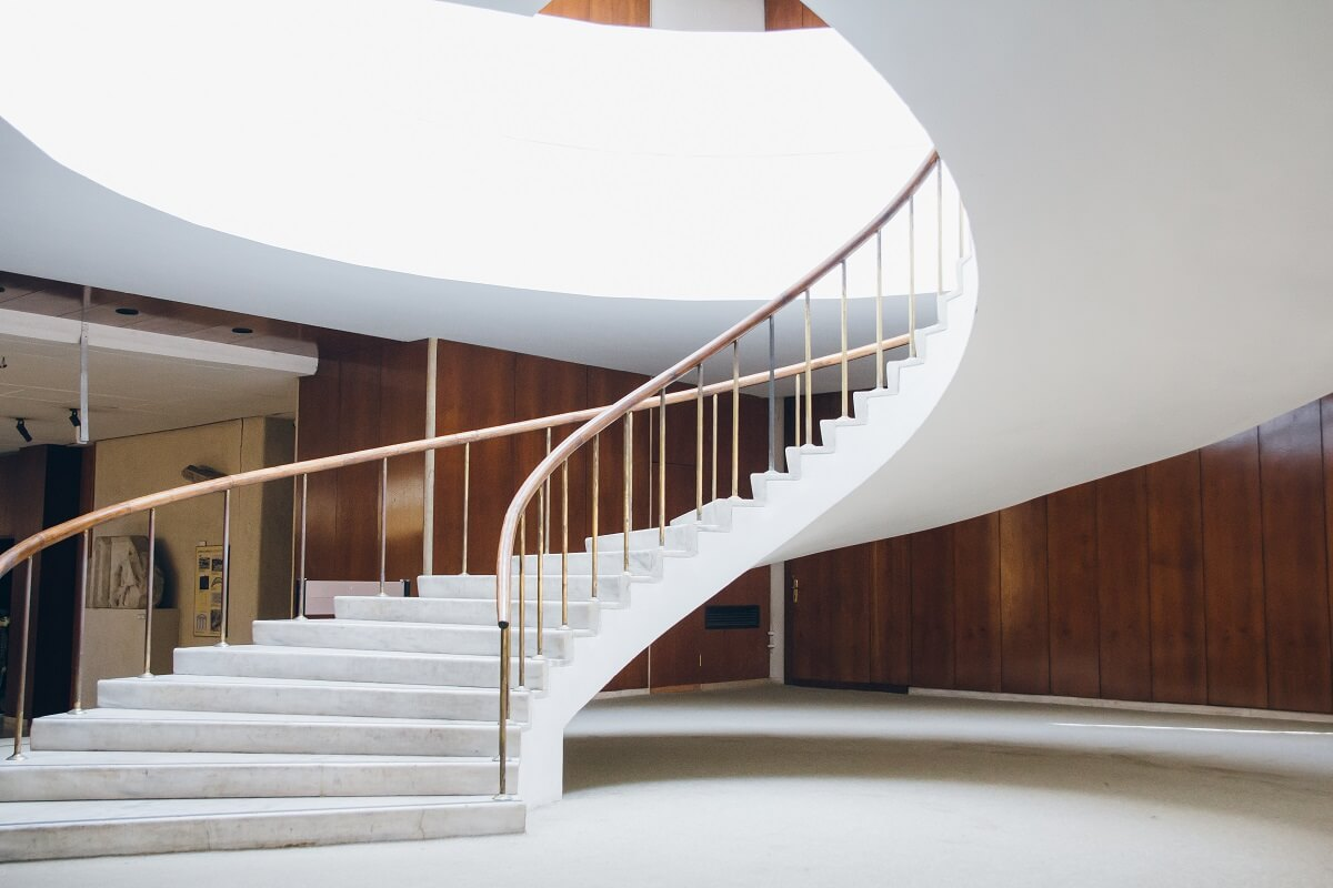 curved entrance ways